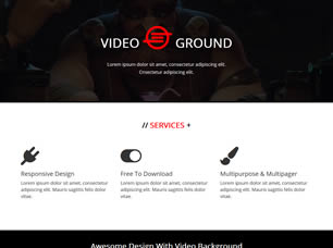 Video Background Free Html Template Php Mk
